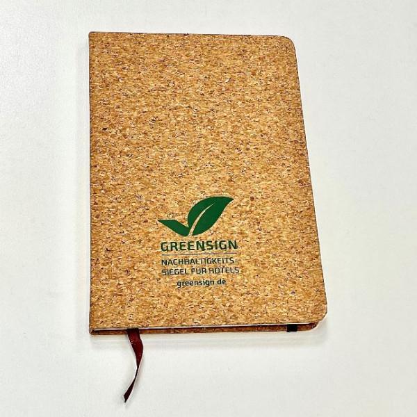 GreenSign Kork-Notizbuch